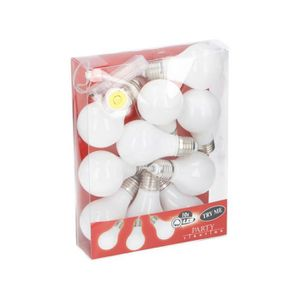 Guirlande lumineuse - Ampoules blanches - 10 LED