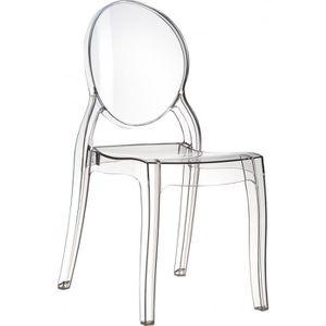 Chaise medaillon achat vente chaise medaillon pas cher - Chaise transparente elizabeth ...