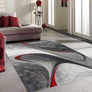 TAPIS Tapis salon DYMMUTEGOLE rouge 80x150, par Unamourd