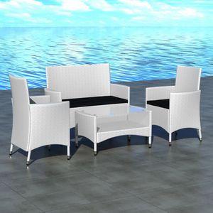 salon de jardin blanc achat vente salon de jardin blanc pas cher cdiscount. Black Bedroom Furniture Sets. Home Design Ideas
