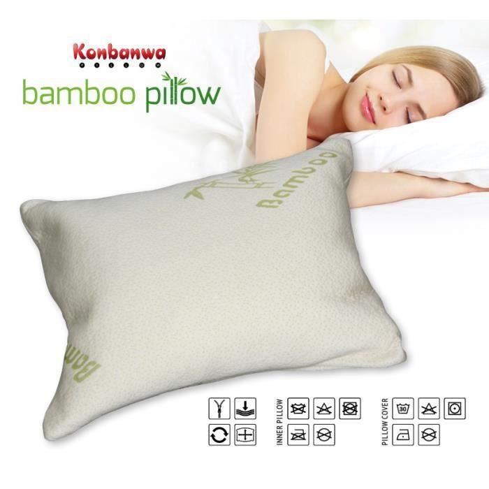 Oreiller bambou 1 achete le 2e a 50 achat vente oreiller cdiscount - Oreiller ergonomique bambou ...