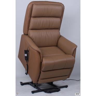 fauteuil de relaxation lectrique releveur en cuir barney 5 couleurs au choix taupe couleur. Black Bedroom Furniture Sets. Home Design Ideas