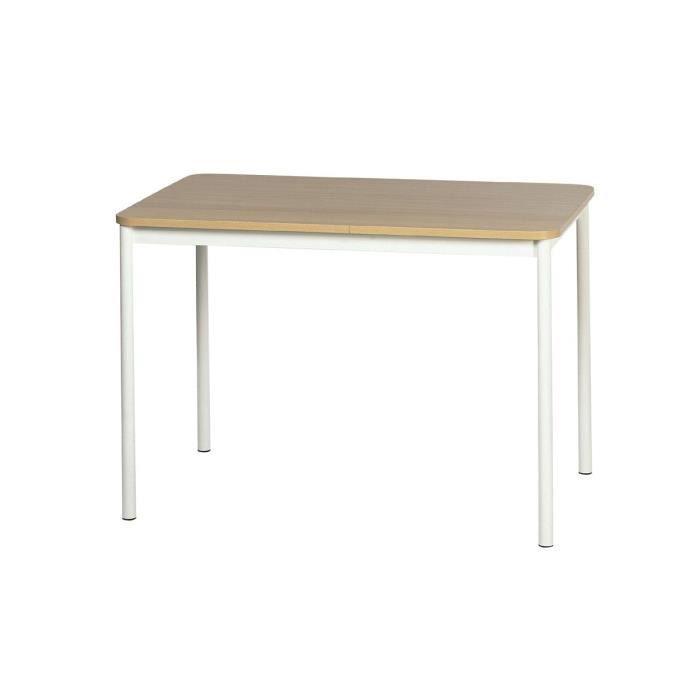 Table de cuisine basic 60 x 60 cm ep10 noir achat vente table de cuis - Table de cuisine noir ...