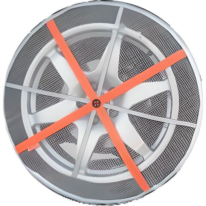 2 chaines textile pour pneus 15 16 18pouces aut achat. Black Bedroom Furniture Sets. Home Design Ideas