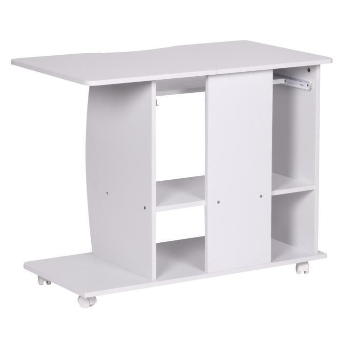 table pour ordinateur 90 cm blanc achat vente bureau table pour ordinateur 90 cm cdiscount. Black Bedroom Furniture Sets. Home Design Ideas