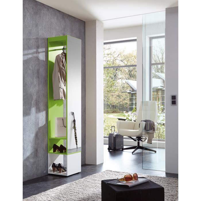 Meuble d 39 entr e design blanc vert estonio achat vente - Meubles entree design ...