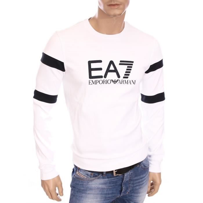 ea7 emporio armani pull sweat blanc homme hiver 2016 274393 5a640 blanc achat vente pull. Black Bedroom Furniture Sets. Home Design Ideas