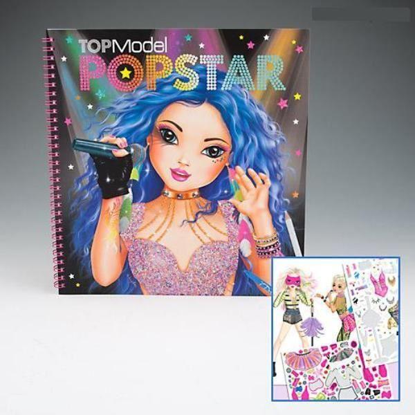 Album coloriage et cr ation topmodel popstar achat - Album de coloriage top model ...
