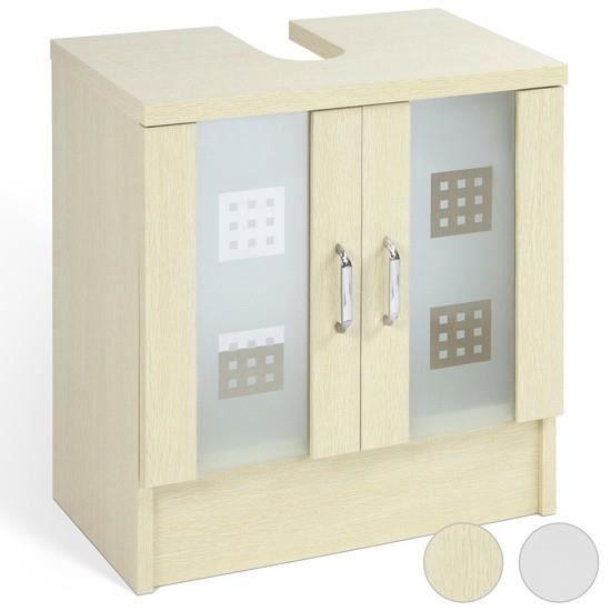 Meuble sous lavabo avec porte en verre h tre achat for Meuble sous lavabo une porte