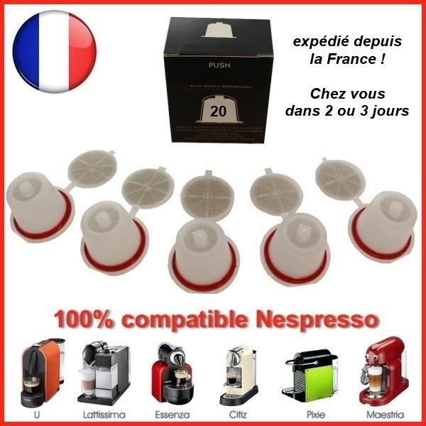 Capsules Cafe Rechargeables Compatibles Nespresso