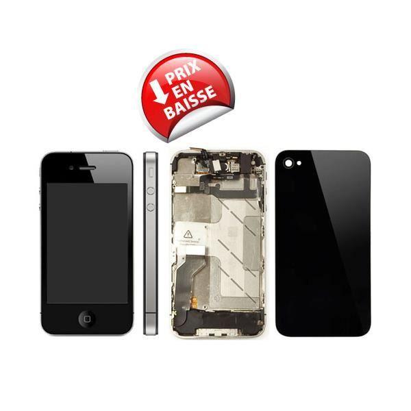 kit de remise neuf complet pour iphone 4s noir achat pi ce t l phone pas cher avis et. Black Bedroom Furniture Sets. Home Design Ideas