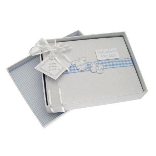 white cotton cards petit album pour b b gar on motif v tements achat vente album album. Black Bedroom Furniture Sets. Home Design Ideas