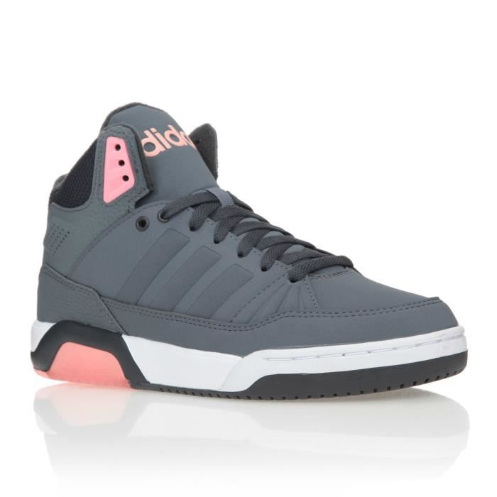 adidas neo baskets play9tis chaussures femme femme gris et rose achat vente adidas neo. Black Bedroom Furniture Sets. Home Design Ideas