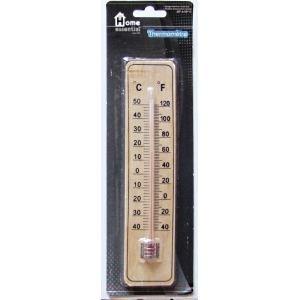 thermometre de maison en bois 22 x 5 cm deco achat