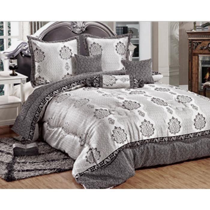 boutis jacquard p n lope 2 personnes 6 pcs 1 couvre lit 2. Black Bedroom Furniture Sets. Home Design Ideas