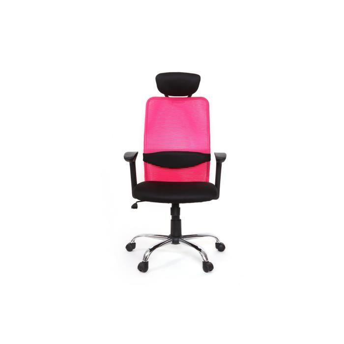 Adapt fauteuil achat vente chaise de bureau rose for Fauteuil de bureau rose