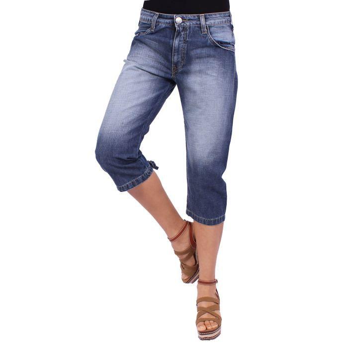 desigual pantacourt jean femme bleu achat vente pantacourt desigual pantacourt jean. Black Bedroom Furniture Sets. Home Design Ideas