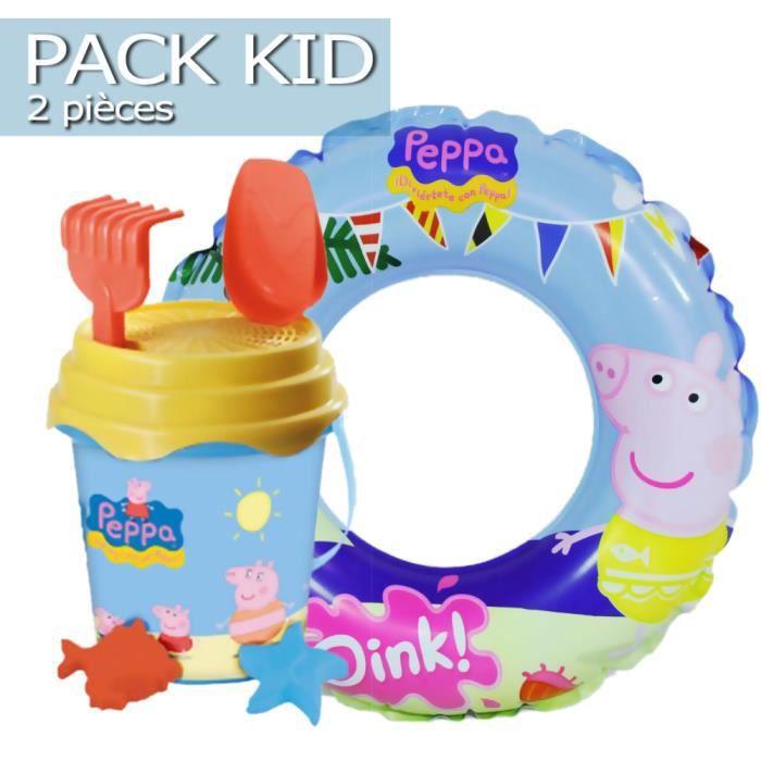 Pack kid plage petit gar on peppa pig 2 pi ces achat - Peppa cochon a la plage ...