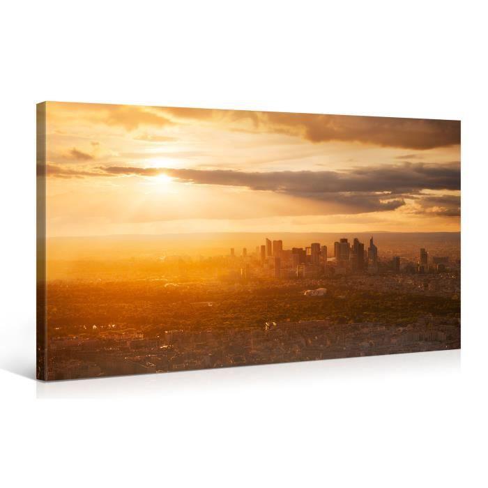 tableau sur toile tour eiffel 100x50cm achat vente. Black Bedroom Furniture Sets. Home Design Ideas