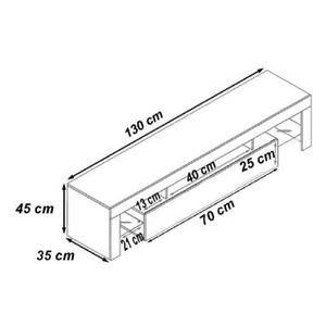 meuble tv 130cm achat vente meuble tv 130cm pas cher soldes cdiscount. Black Bedroom Furniture Sets. Home Design Ideas