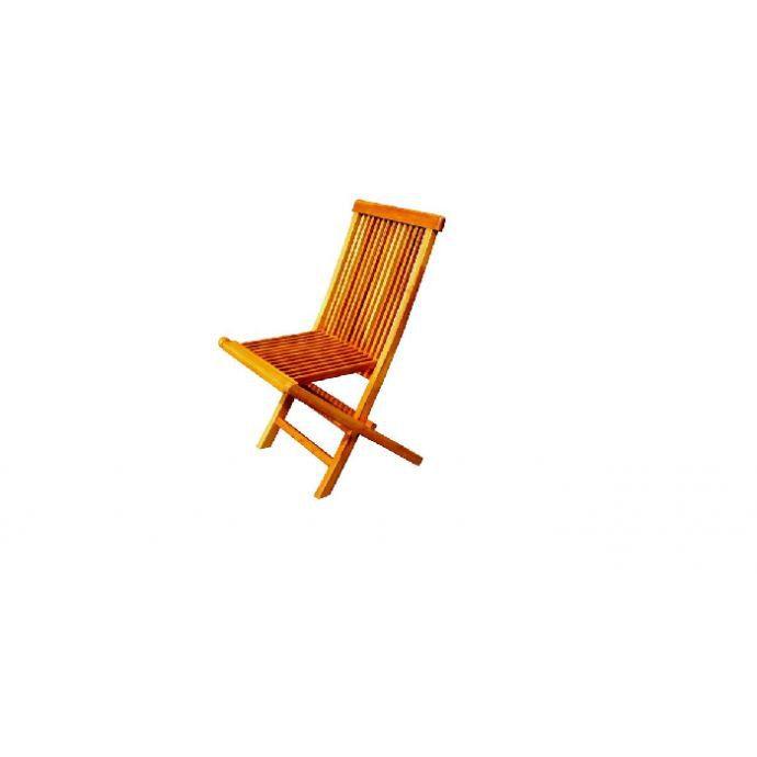 Lot de 4 chaises pliantes jardin teck massif huil achat vente fauteuil j - Lot de chaises pliantes ...