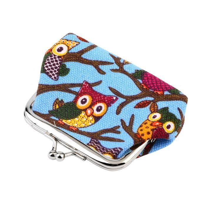 Porte monnaie chouette imprim canvas pour filles femmes bleu achat ven - Vente de chocolat porte a porte ...