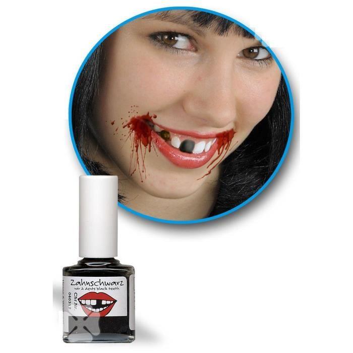 comment se maquiller une dent en noir