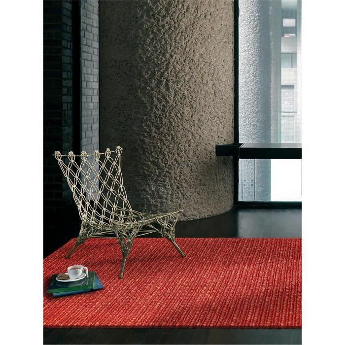 Benuta tapis jute loop rouge 200x300 cm achat vente for Tapis rouge avec canapé 145 cm