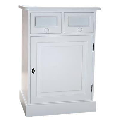 Meuble bas de salle de bain 1 porte 2 tiroirs 6 achat for Meuble bas salle de bain 2 portes