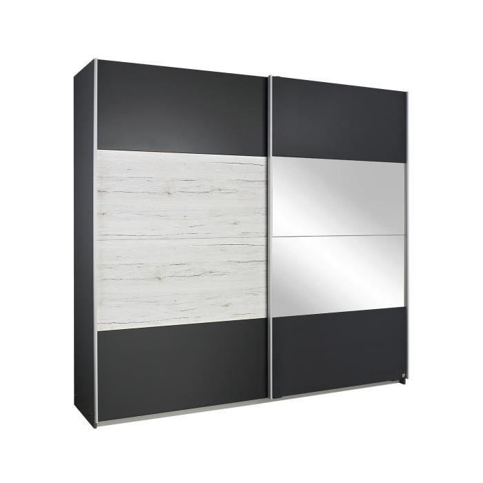 armoire contemporaine 2 portes coulissantes 226 cm ch ne. Black Bedroom Furniture Sets. Home Design Ideas