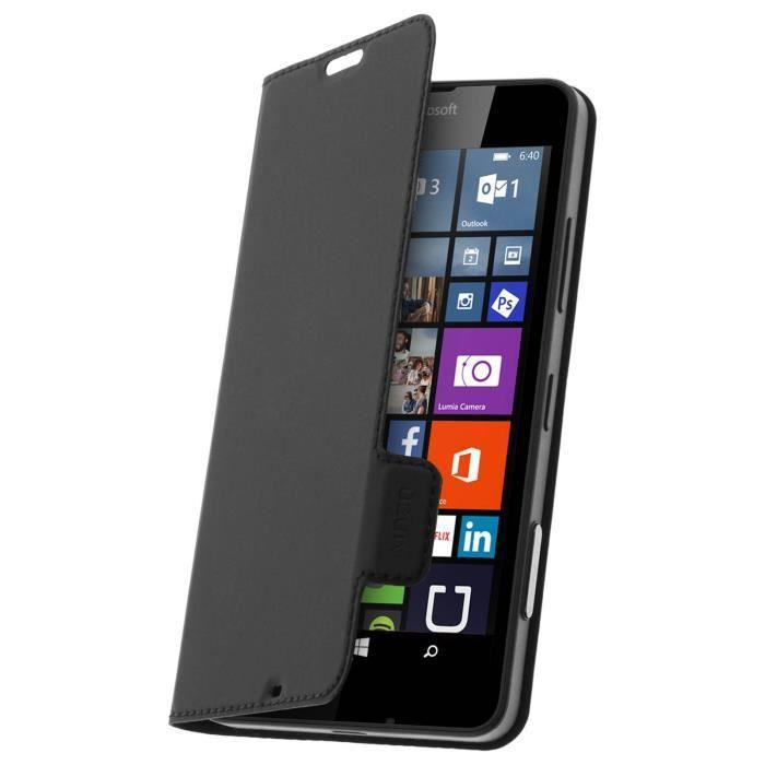 Housse etui folio nokia microsoft lumia 640 noir achat for Housse lumia 640