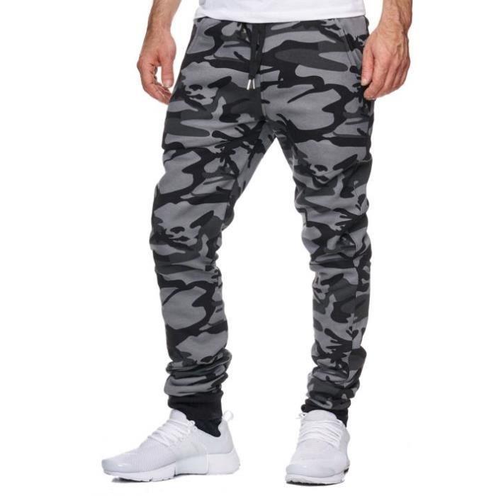 jogging homme camouflage noir violento noir achat vente surv tement de sport les soldes. Black Bedroom Furniture Sets. Home Design Ideas