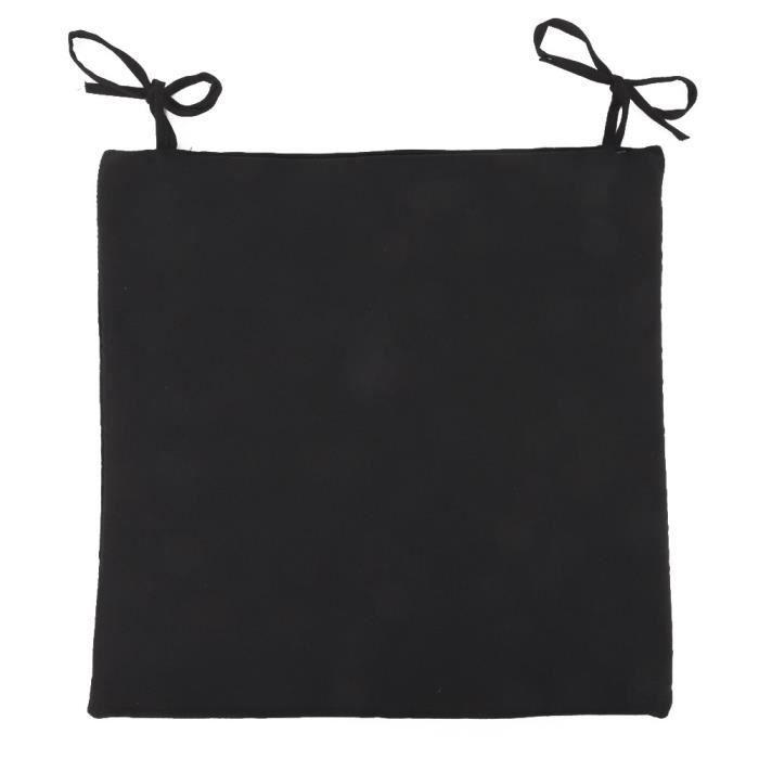 Galette de chaise 38x38 cm impermeable noir achat vente coussin de chaise - Galette chaise exterieur impermeable ...