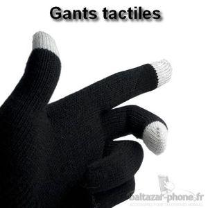 GANT TACTILE SMARTPHONE Gants tactiles noir pour Wiko CINK FIVE