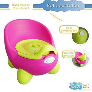 POT Bébélol® Pot bébé toilette bébé aux couleurs vives