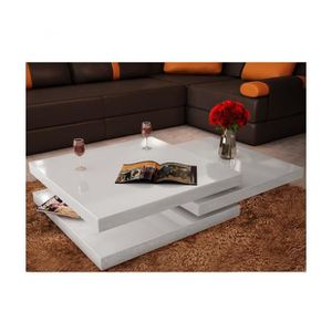 table basse blanc laque et chrome achat vente table basse blanc laque et chrome pas cher. Black Bedroom Furniture Sets. Home Design Ideas