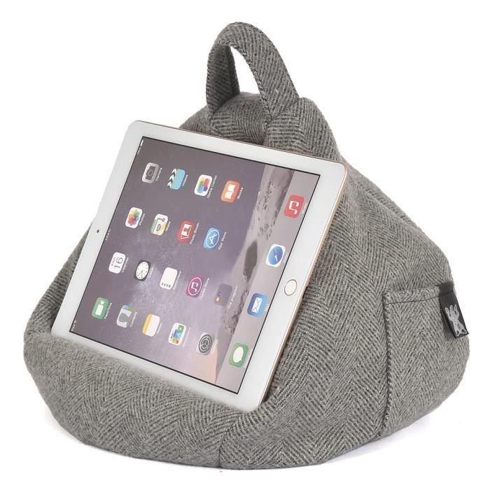 coussin de support ibeani pour ipad tablettes et livres num riques chevrons gris prix pas. Black Bedroom Furniture Sets. Home Design Ideas