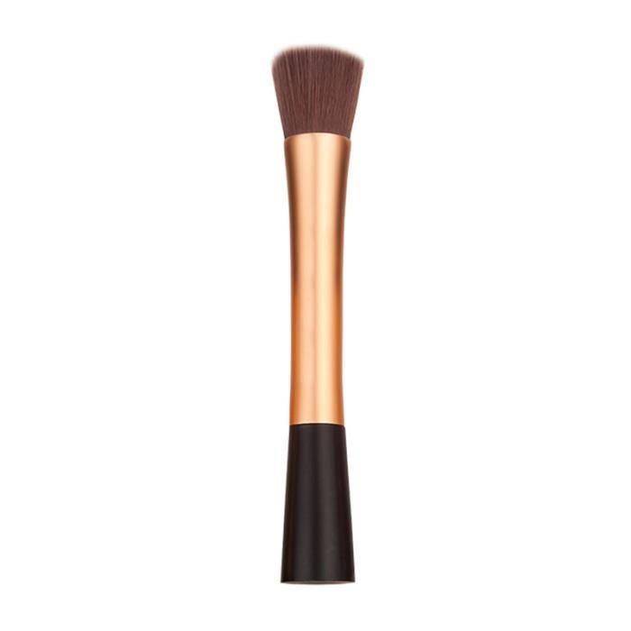 pinceau brosse fard joues fond de teint poudre visage maquillage blush brush dor achat. Black Bedroom Furniture Sets. Home Design Ideas