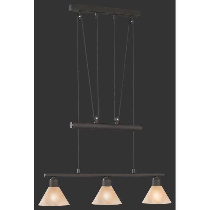 suspension longue 66 cm 3 ampoules en m tal cou achat vente suspension longue 66 cm 3 a. Black Bedroom Furniture Sets. Home Design Ideas