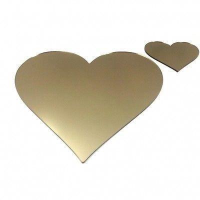 6 bronze napperons miroir de coeur et sous verres achat for Miroir 40x150