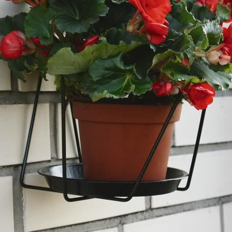 brema support pot de fleurs noir 22cm 123672v achat vente support magn tique brema support. Black Bedroom Furniture Sets. Home Design Ideas