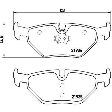 brembo jeu de 4 plaquettes de frein p06025 achat vente. Black Bedroom Furniture Sets. Home Design Ideas