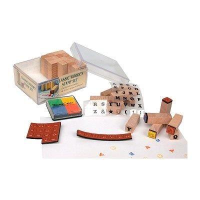 JEU D'APPRENTISSAGE Cachets en bois mini Set de tampons Alphabet ma…