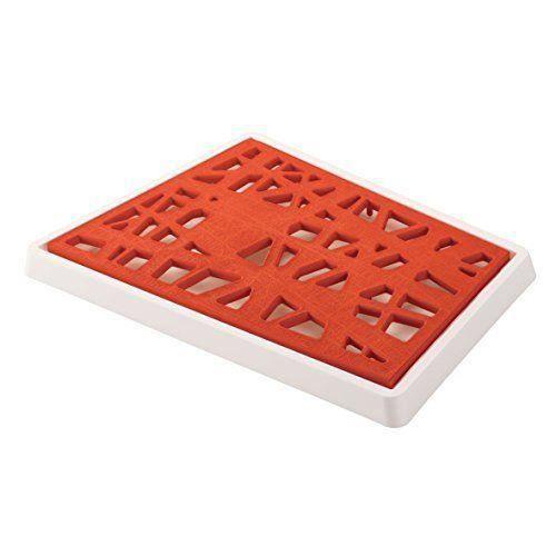 koziol matrix planche pain plastique orange blanc 25 1 x 37 7 x 0 5 cm achat vente planche. Black Bedroom Furniture Sets. Home Design Ideas