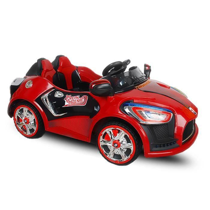voiture lectrique sport pour enfant 2x30 w rouge achat vente voiture enfant cdiscount. Black Bedroom Furniture Sets. Home Design Ideas