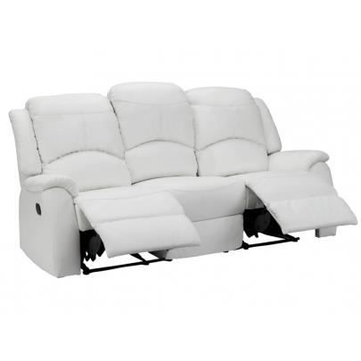 Canap 3 places relax esther blanc achat vente canap sofa divan - Cdiscount canape relax ...