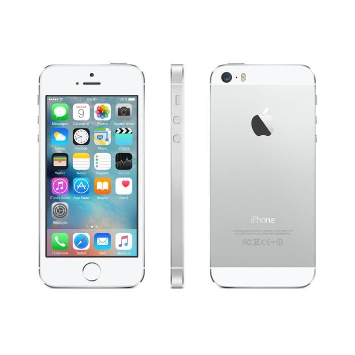 apple iphone 5s 16 go argent reconditionne a neuf. Black Bedroom Furniture Sets. Home Design Ideas