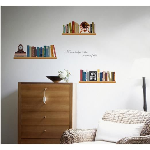stickers muraux tag re simple personnalis achat. Black Bedroom Furniture Sets. Home Design Ideas