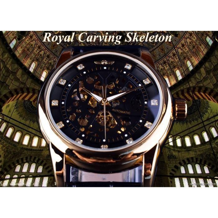royal diamant noir or montre montre homme montres hommes top marque de luxe relogio homme. Black Bedroom Furniture Sets. Home Design Ideas