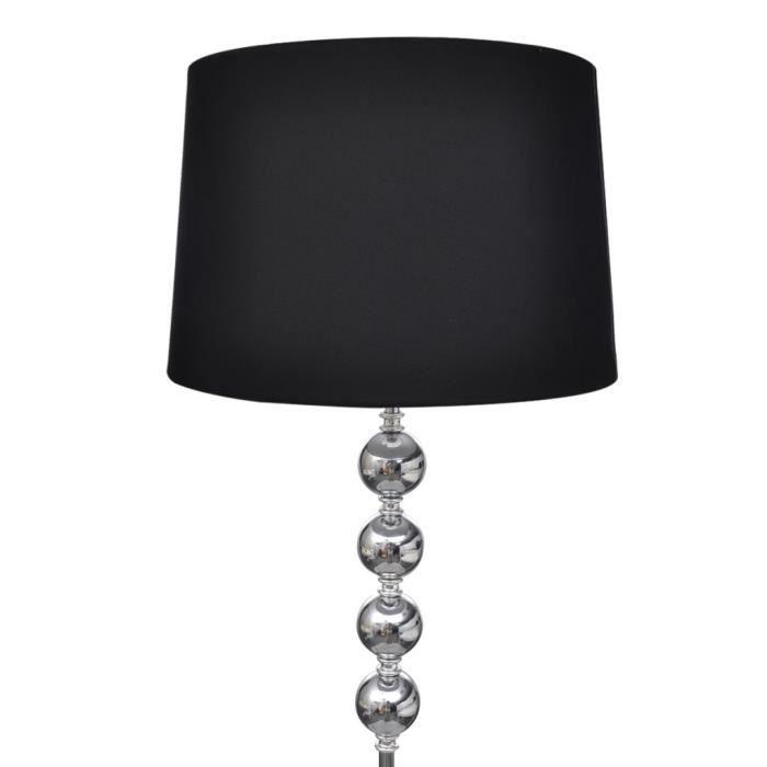 magnifique lampe de sol a long pied avec 4 boules de decoration noir achat vente magnifique. Black Bedroom Furniture Sets. Home Design Ideas